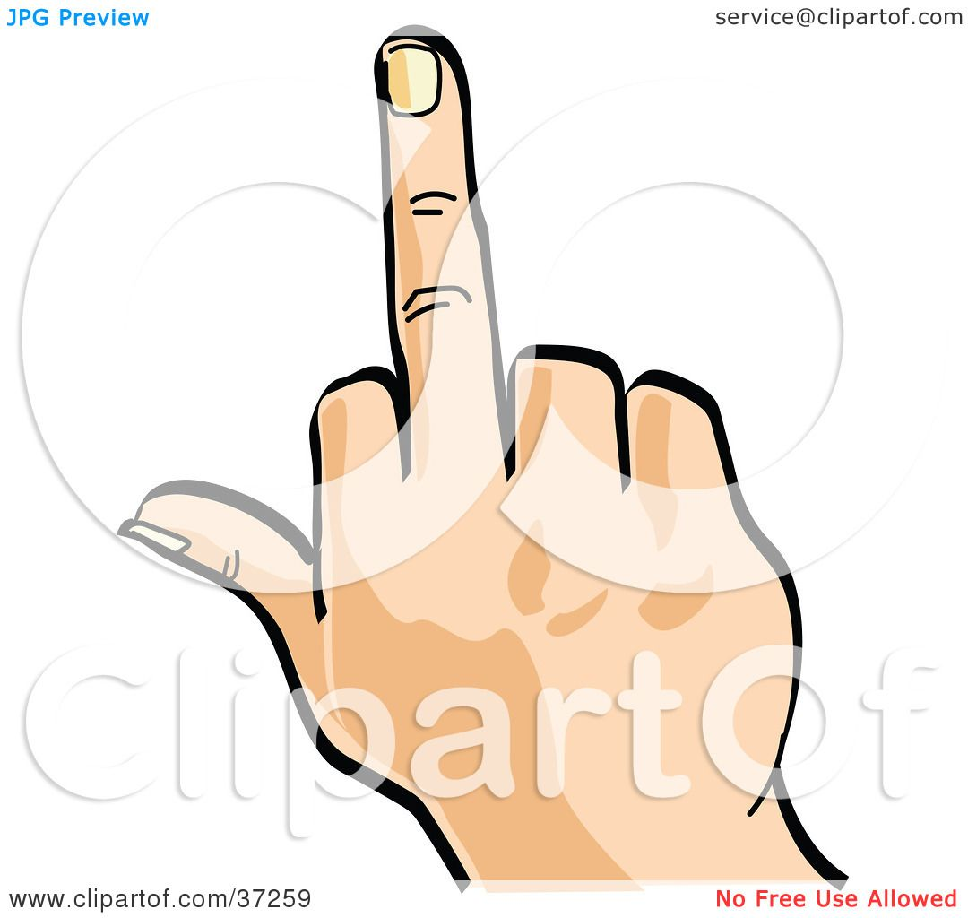 Flipping The Bird Clipart.