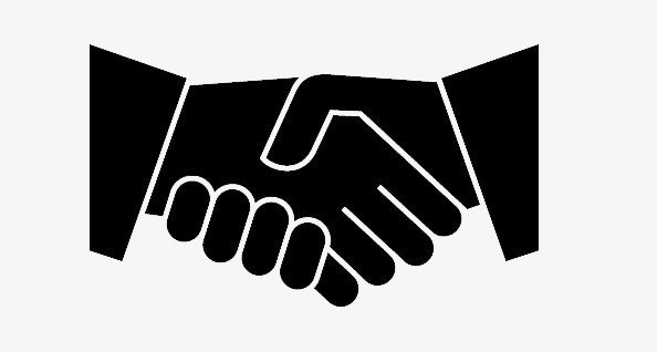 Download Free png Cooperation, Shake Hands, Black, Hand PNG.