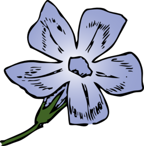Periwinkle Bloom Clip Art at Clker.com.