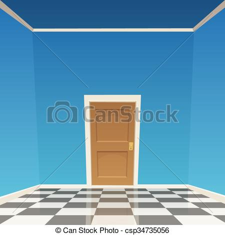 Clipart Vector of Room Door.