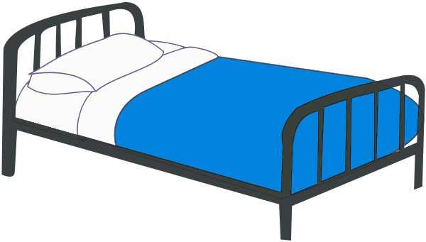 Blue bedroom clipart.