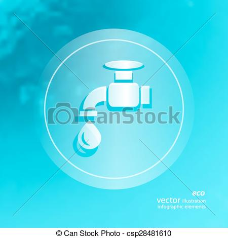 Vector Clip Art of Ecology icon on the blurred background.