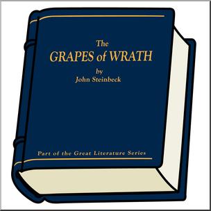 Clip Art: Book: The Grapes of Wrath Color I abcteach.com.