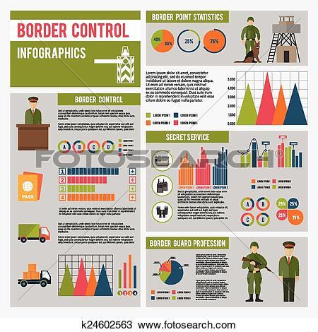 Clipart of Border Guard Infographics k24602563.