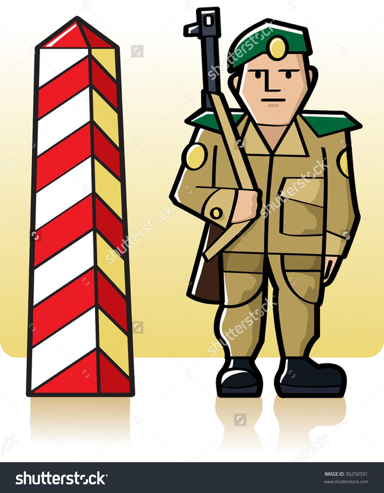 Vector Border Guard Stock Vector 36250591.