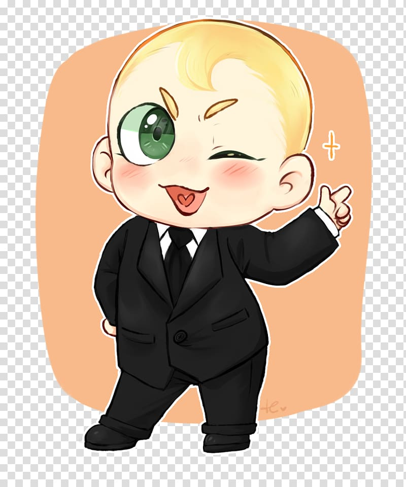 Child Fan art, the boss baby transparent background PNG.