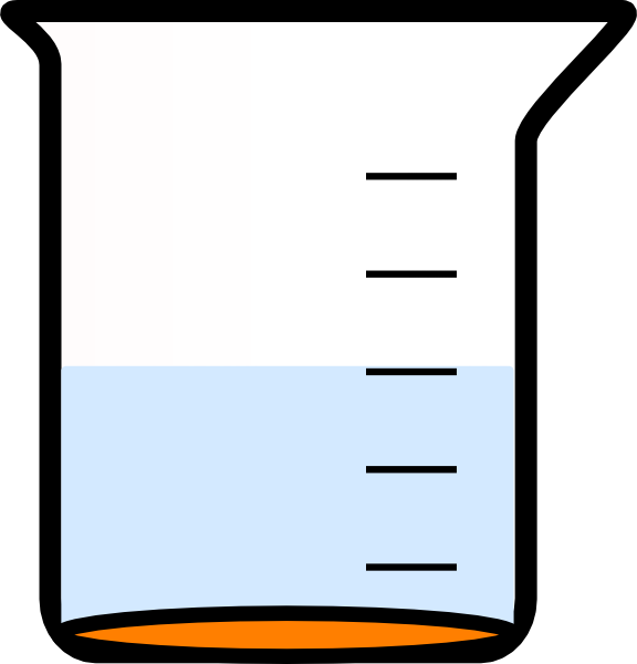 Beaker With Painted Bottom And Water Clip Art at Clker.com.