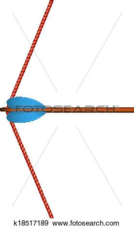 Clip Art of Bow arrow and red bowstring k18517189.