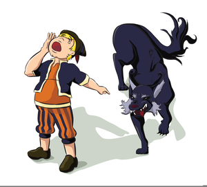 The Boy Who Cried Wolf Clipart.