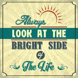 Look Bright Side Stock Illustrations.