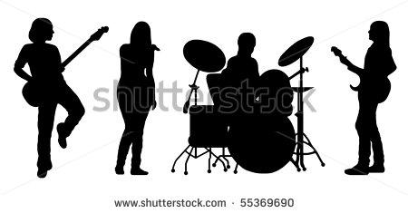Rock Star Bands Clipart.