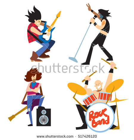 Rock Band Stock Images, Royalty.