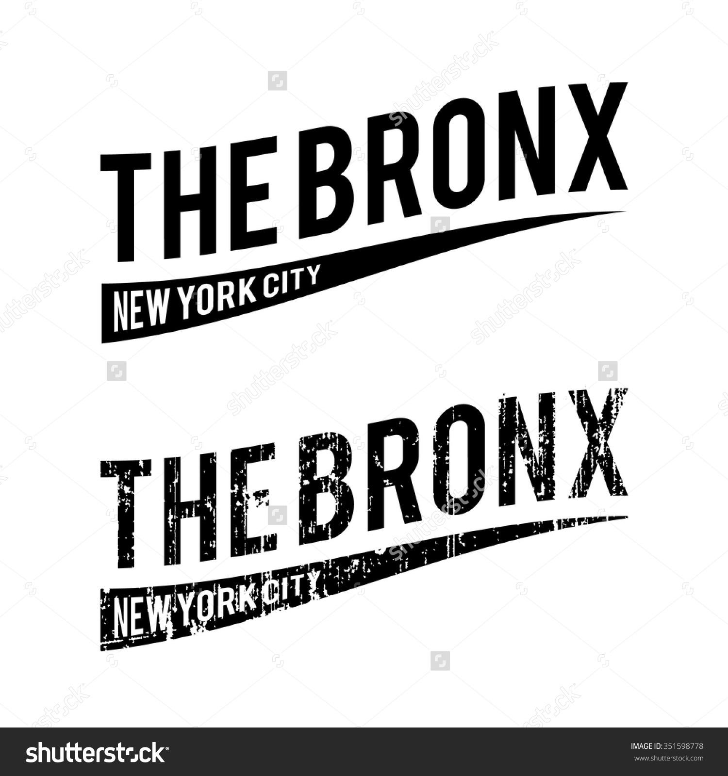 Bronx New York City Distressed Text Stock Vector 351598778.