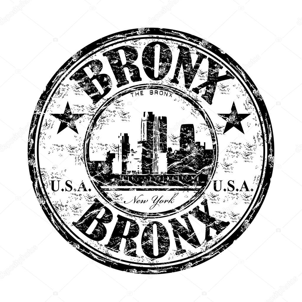 Bronx grunge rubber stamp — Stock Vector © oxlock #23778025.