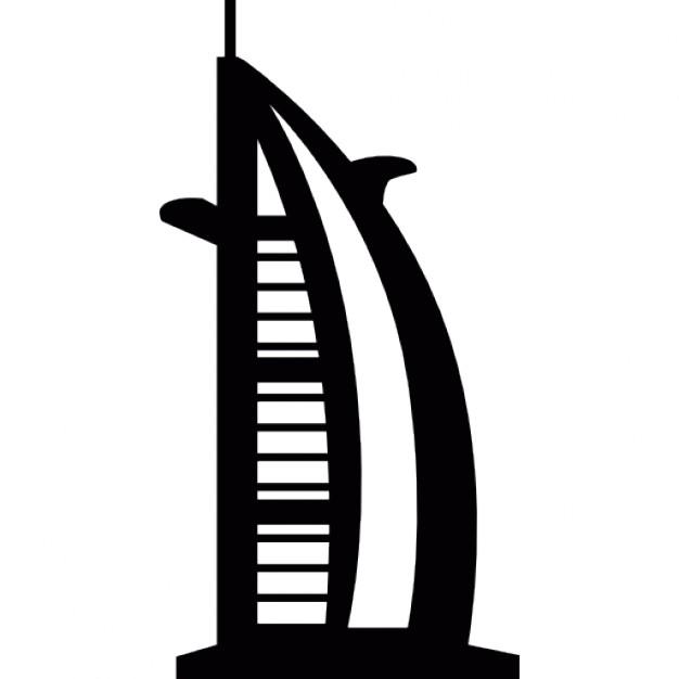Burj khalifa clipart black and white.