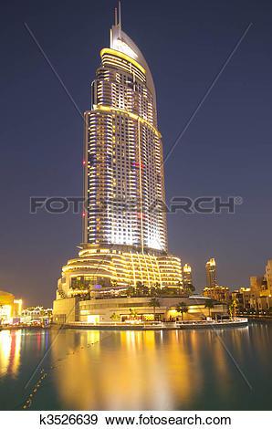 Stock Photograph of Luxury building in the burj dubai complex.