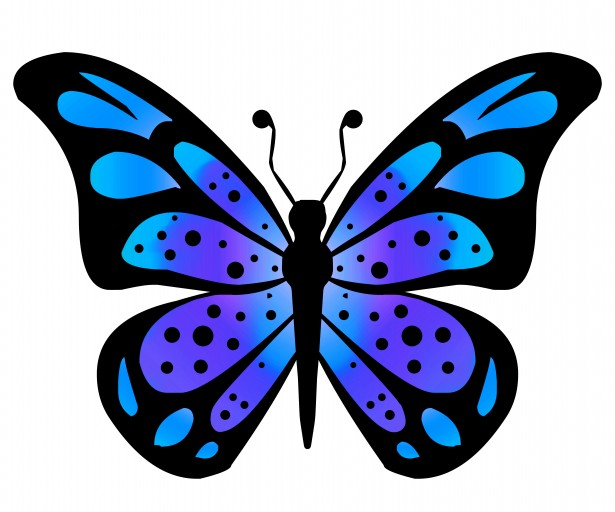 Clipart Butterfly 3 Free Stock Photo.