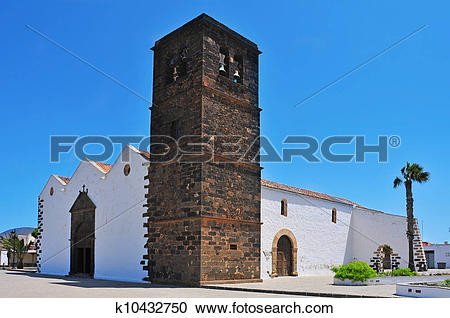 Stock Photography of a view of Church of Our Lady of Candelaria in.