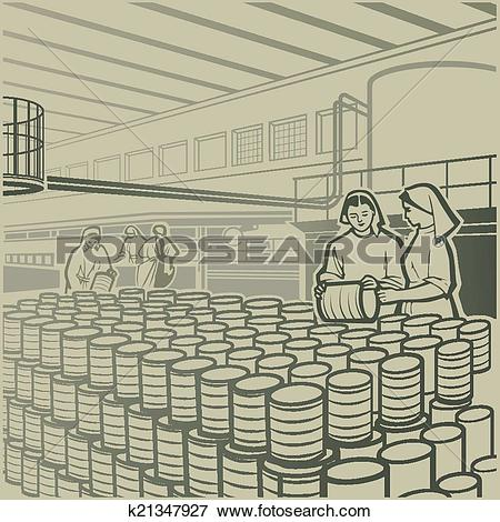 Clip Art of Cannery k21347927.