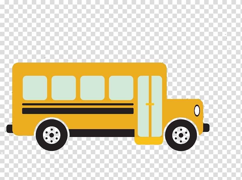 School bus Yellow, School bus illustration transparent.