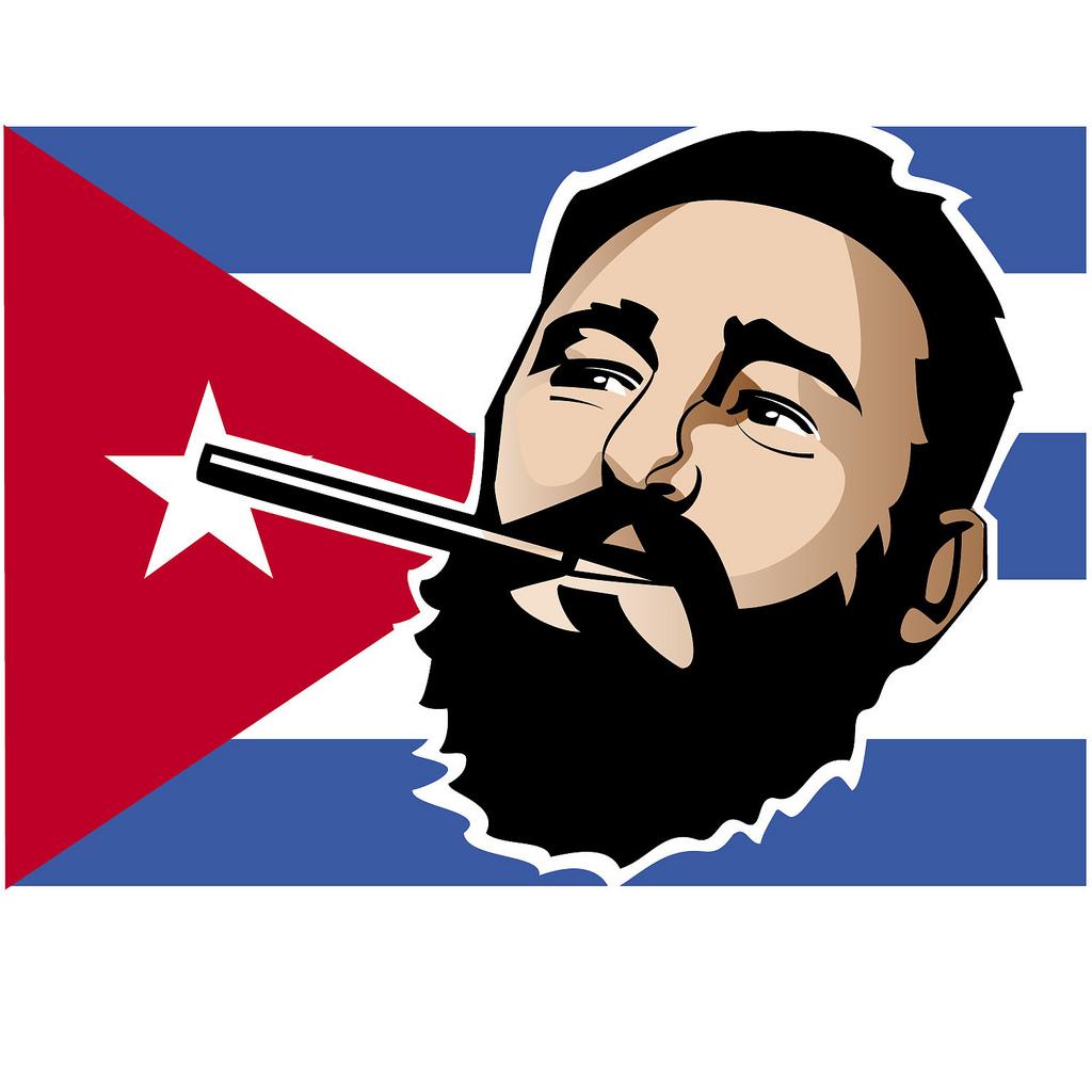 Fidel Castro Vector Portrait.