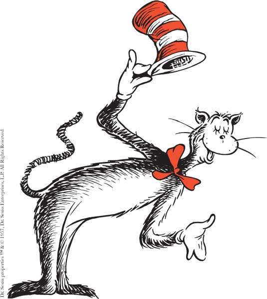 Dr seuss cat in the hat clip art free clipart.