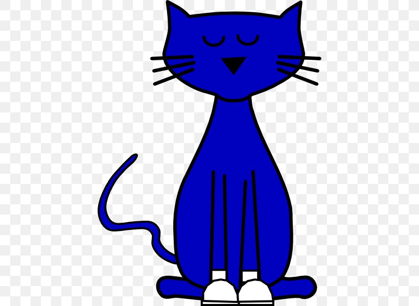 Pete The Cat Kitten Blue Clip Art, PNG, 438x599px, Cat.
