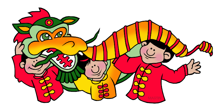 Free Ancient China Clip Art by Phillip Martin, Chinese New Year Parade.