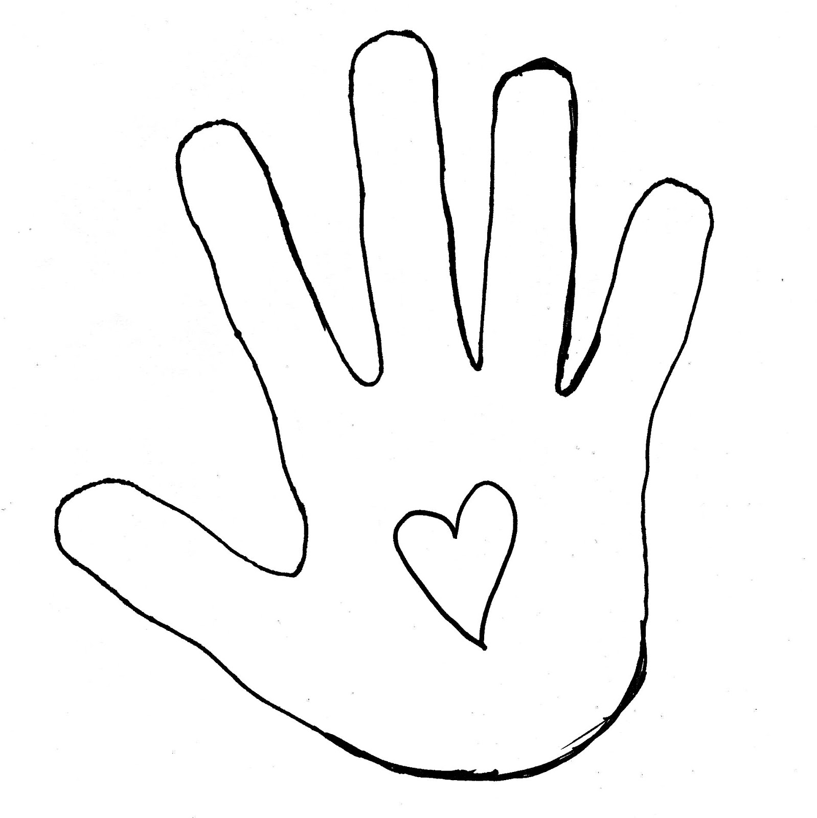 Hand Outline Template Printable.