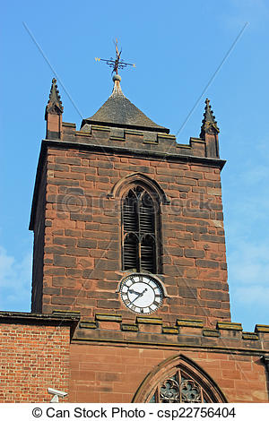 Stock Photography of Church clock.