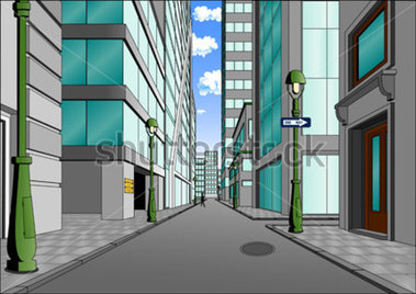 City streets clipart.