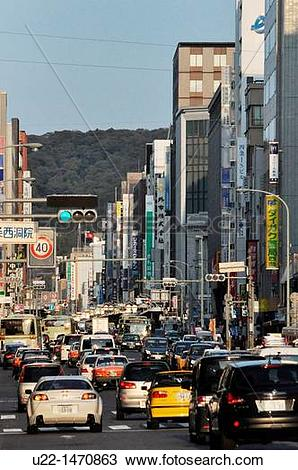 Stock Photo of Kyoto (Japan): urban traffic in the city centre u22.