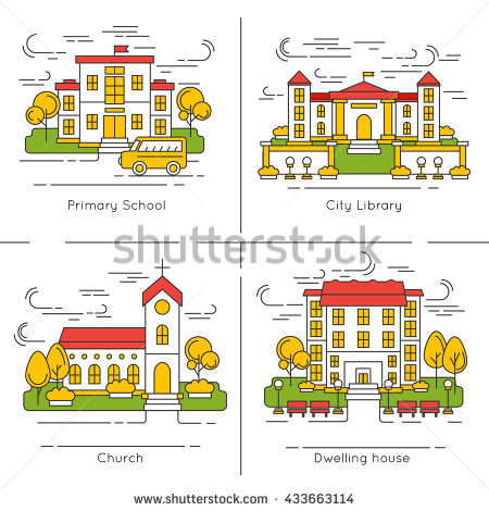 Children Asking Telling Way Different City Stock Vector 338360204.