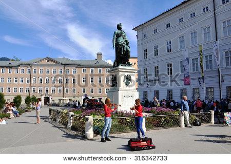 Mozart Square Stock Photos, Royalty.