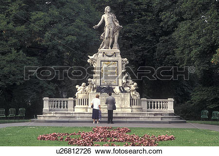 Stock Images of Mozart, Vienna, Austria, Wien, Wolfgang Amadeus.