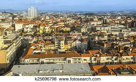 Pictures of Panorama top view of the centre city of Porto.