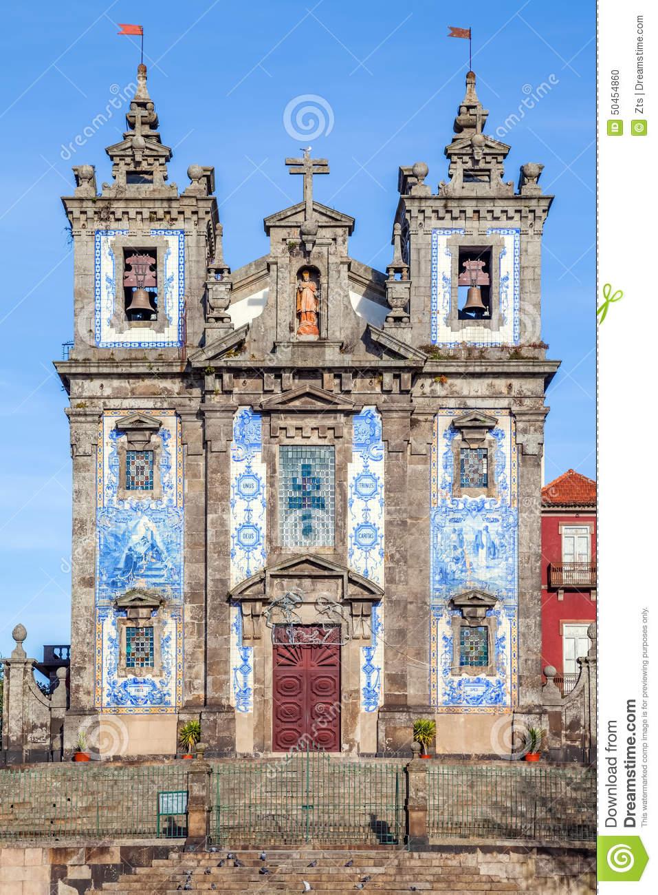 Santo Ildefonso Church In The City Of Porto, Portugal Stock Photo.
