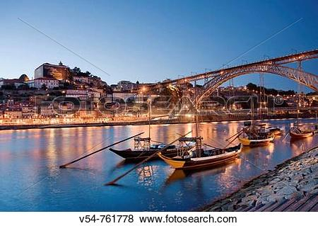 Pictures of Porto Wine Carrying Barcos Barges, River Douro and.