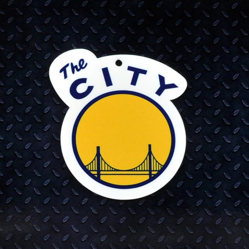 Golden State Warriors The City STEEL 12 Inch NBA Logo Sign.