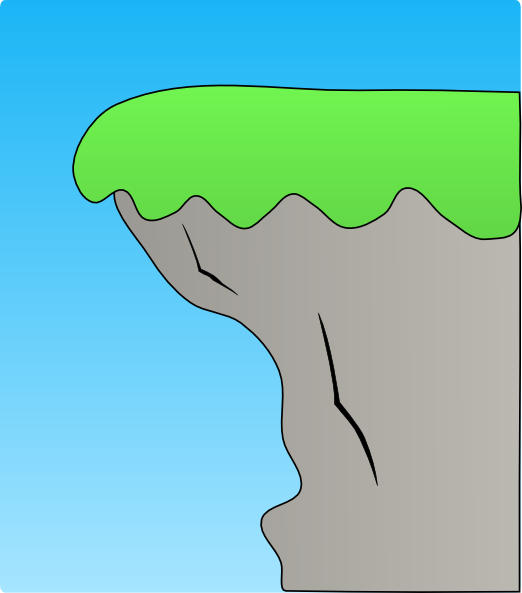 Cliff Over The Hill Clipart.