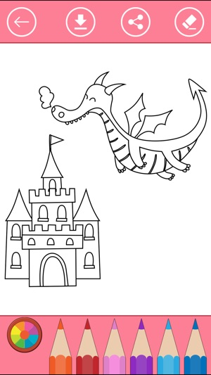 Fairy tale princess coloring pages for girls. on the App Store.