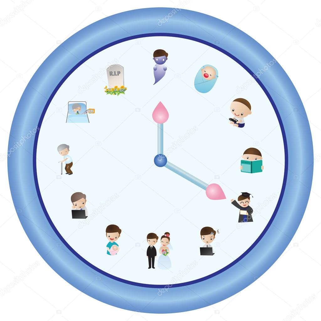 The clock of life clipart #2