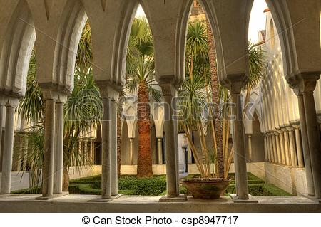 Picture of The Cloister of Paradise of Amalfi cathedral.