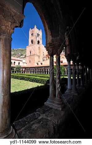 Stock Photograph of Palermo Sicily, Italy Duomo di Monreale The.