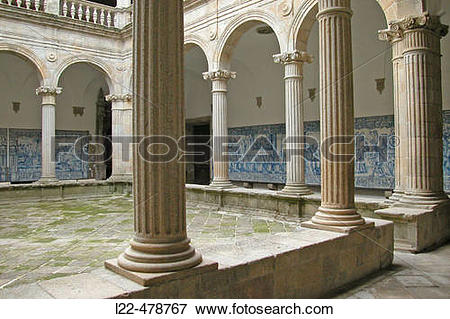 Picture of ?Azulejos? (tiles) in the cloister of the cathedral.