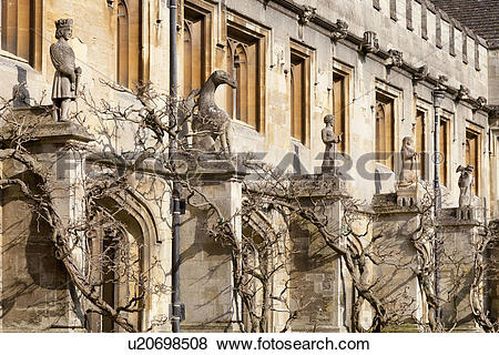 Pictures of England, Oxfordshire, Oxford. The Cloister of Magdalen.