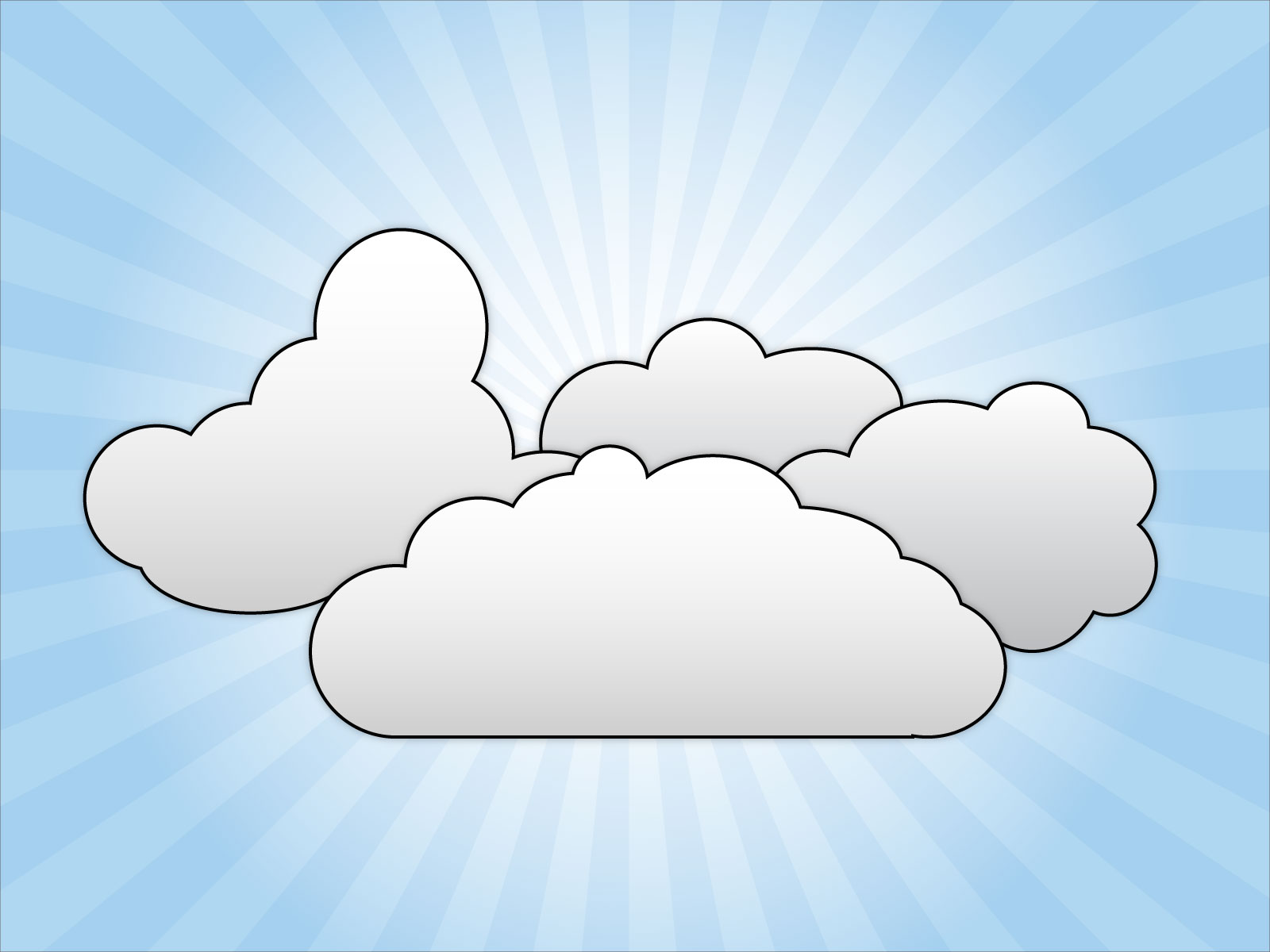 The Cloud Clip Art Free.