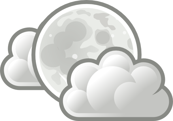 Weather Few Clouds Night Clip Art at Clker.com.