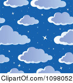 Clipart of a Background of a Full Moon and Clouds over Mountains.