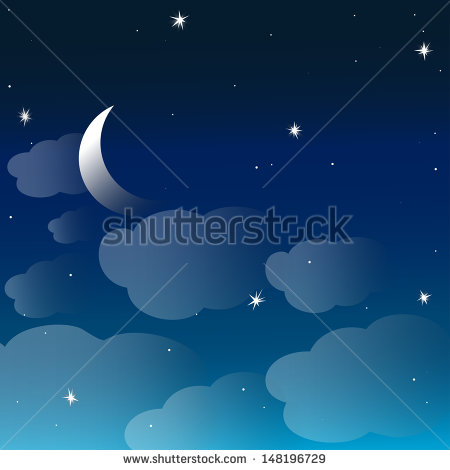 Moon Clouds Stars Sweet Dreams Wallpaper Stock Vector 175437260.